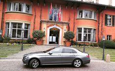 Mercedes E-Class in front of Villa Principe Leopoldo Mercedes E Class, Villa, Instagram Posts, Fork, Villas