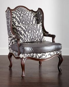 Shop Zahara Leather Wing Chair from Massoud at Horchow, where you'll find new lower shipping on hundreds of home furnishings and gifts. Living Room Furniture, Home Furniture, Furniture Design, Furniture Logo, Furniture Stores, Furniture Buyers, Western Furniture, Victorian Furniture, Furniture Shopping