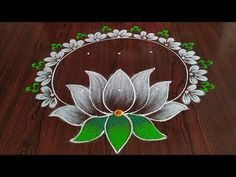 Simple Flower Rangoli, Simple Rangoli Border Designs, Indian Rangoli Designs, Rangoli Designs Latest, Rangoli Designs Flower, Free Hand Rangoli Design, Small Rangoli Design, Rangoli Patterns, Unique Mehndi Designs