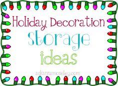 Holiday decoration storage ideas -- Ask Anna