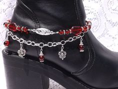 Red Boot Candy Boot Bracelet Boot Bling Boot by LoveBugsJewelry, $18.99