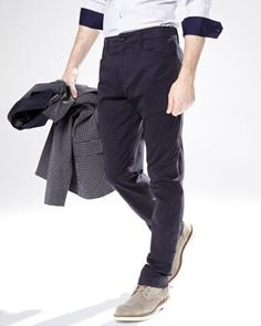 Polished enough for a night out and comfortable enough for hanging out with the boys.- Slim leg- L-shaped pockets- Back welt pockets with buttons- Stretch cotton blend for all-day comfort