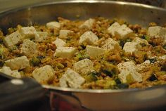 Low Carb Rezepte: Dönerpfanne mit Gemüse (mit Geflügel, Low - Carb geeignet)
