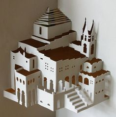 Libros Pop-Up Books Cards: Maravillosas Obras de Arte Pop-up de Arquitectura en Papel de Ingrid Siliakus