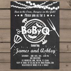 Hoi! Ik heb een geweldige listing op Etsy gevonden: https://www.etsy.com/nl/listing/232201017/baby-q-invitation-coed-baby-shower