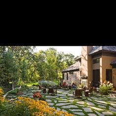 Patio with grass