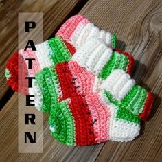 Crochet Pattern Central - Free Slipper And Sock Crochet Pattern.  (Theresa, Danielle and others who can crochet!!)