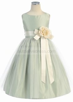 The dress is made of high quality taffeta fabric.It can be made into many other colors.The flower sash is really lovely.It is in knee length.Perfect for wedding,party,holiday,Baptism,Christening or everyday wear.For Custom Dress, please enter the measurements at Custom Note Box which you will find r