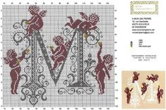 mon ami R punto croce( Blackwork Embroidery, Cross Stitch Embroidery, Embroidery Patterns, Crochet Patterns, Cross Stitch Designs, Cross Stitch Patterns, Owl Sewing, Stitch And Angel, Crochet Angels