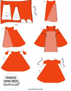 undefined Dress Sewing Patterns, Clothing Patterns, Pdf Patterns, Sewing Hacks, Sewing Crafts, Patriotic Dresses, Sewing Machine Projects, Sewing Courses, Model Outfits