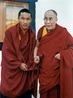 a younger Karmapa and the Dalai Lama
