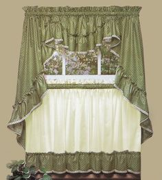 holly embroidered christmas kitchen curtains and valances