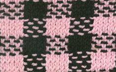 Knitting Stitch Pattern: Gingham Check