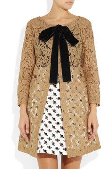 Miu MiuFloral-Lace Coat. And I die. So gorgeous and elegant!