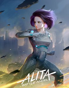Alita: Battle Angel is a movie starring Rosa Salazar, Christoph Waltz, and Jennifer Connelly. A deactivated female cyborg is revived, but cannot remember anything of her past life and goes on a quest to find out who she is. Alita Battle Angel Manga, Angel Movie, Female Cyborg, Suspended Animation, Arte Robot, Angel Wallpaper, Fan Art, Cyberpunk Art, Art Station