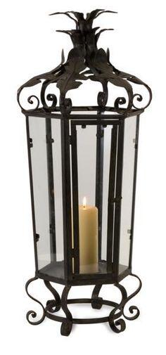 Tall Black Iron Candleholder