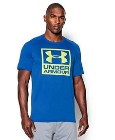 Under Armour Men's UA Tech™ Boxed Logo T-Shirt Large ULTRA BLUE | AMAZON.COM saved by #ShoppingIS