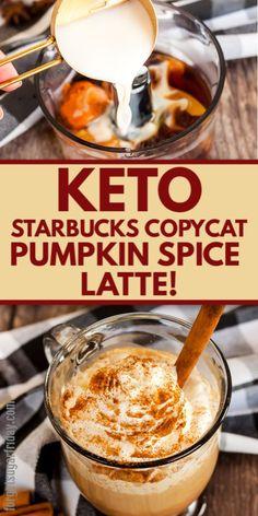 Starbucks Pumpkin Spice Latte, Pumpkin Spiced Latte Recipe, Spiced Coffee, Pumpkin Puree, Keto Coffee Recipe, Coffee Recipes, Low Carb Drinks, Keto Drink, Low Carb Keto