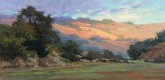 Carmel River Pasture by Kim Lordier Pastel ~ 12 x 24