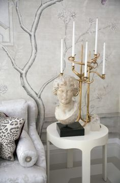 Lalanne candelabra in Alex Papachristidis Kips Bay Show house Dining Room