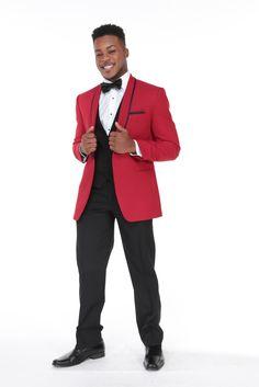 Carmine Black Accents, Black Trim, Tuxedo Rental, Black Flats, Workout Pants, Suit Jacket, 1 Button, Shawl, Shopping