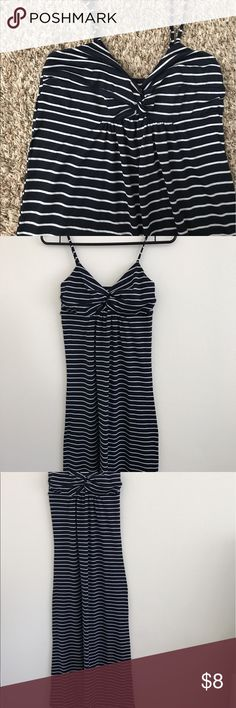 Navy and white striped maxi dress Very cute striped maxi dress. True to size. Dresses Maxi