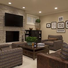 Flat Screen Tv Mounted On Stone Fireplace Design, Pictures, Remodel, Decor and Ideas - page 3