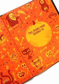 End page detail from NEW Halloween book: Trick or Treat: A Happy Haunters Halloween. Illustrated by Tad Carpenter