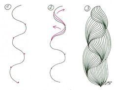 zentangle how to patterns | Zentangle nedir?Zentangle tarzi cizimler/bazi motiflerin yapilisi