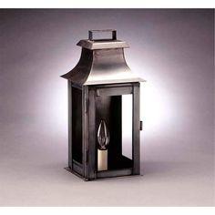 Small Dark Brass Concord Outdoor Wall Lantern