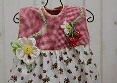 16af8bb9f17 Summertime romper. 6 months girls bubblesuit. Red and white girls  bubblesuit. Baby girls summer bubbles.