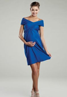 Maternal America - Miracle Convertable Maternity Dress - Blue or Purple