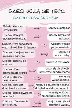 Pin by Rebzda on Pomyśl Future Mom, Everything And Nothing, Psychology Facts, Kids And Parenting, Good To Know, Life Lessons, Fun Facts, Preschool, Baby