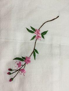1번째 이미지 Embroidery Needles, Hand Embroidery Stitches, Silk Ribbon Embroidery, Embroidery Patterns, Sewing Art, Coral Pink, Couture, Needlework, Delicate