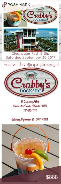 SW Florida Posh & Sip Sept 30, 2017 Summer's never over here in Florida! Let's join our host @apriljerseygirl for a day of fun and sun in beautiful Clearwater Beach, Florida! Saturday September 30, 2017 at 2PM at Crabby Bill's Dockside. Tell your friends Florida Poshers and all Poshers who can attend, from near or far! What a great weekend vacation destination! See you there XOXO Trina Turk Swim Bikinis