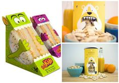That marketing for children requires more than just providing a fun and playful item that can catch attention before purchasing. Sandwich Packaging, Cookie Packaging, Food Packaging Design, Kid Sandwiches, Portfolio Website Design, Kids Laughing, Cookies For Kids, Infancy, Cartoon Images