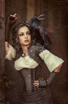 "jejosch: ""Steampunk Beauty and the Raven http://pin.it/5NH3iSH """