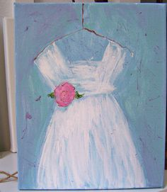 SALE....Hand Painted Shabby Chic Painting by MyStylishMarket
