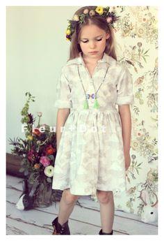 The Seattle Girls Shirtdress by Fleur + Dot #kids #fashion #fleuranddot