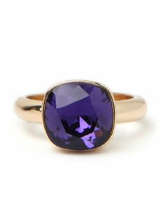 Amethyst Stack Ring by Bauble Bar $54!!