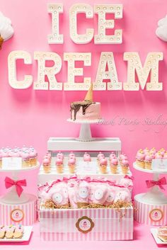Incredible ice cream birthday party! See more party ideas at CatchMyParty.com!