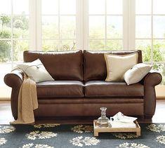 Pearce Leather Sofa | Pottery Barn