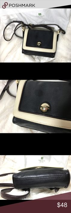 Kate Spade ♠️ authentic crossbody bag In mint condition. No scratch, no wear, no dirty spot, no nothing‼️Just like new‼️ Great buy. Strap is not removable, so you will use it crossbody or as a shoulder bag only. Comes with the original dust bag. kate spade Bags Crossbody Bags
