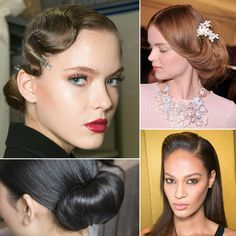 55 runway hair looks that can easily be translated for a bride. Save this one for your fashion-forward friend. #wedding