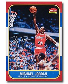 2862ebb060c Michael Jordan Signed Autographed 13X17 Photo 1986-87 Fleer RC Blow-Up  Bulls UDA