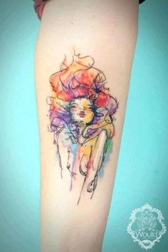 fashion girl watercolor tattoo on inner arm for girls – The Unique DIY Watercolor Tattoo which makes your home more personality. Collect all DIY Watercolor Tattoo ideas on watercolor tattoo to Personalize yourselves. Pretty Tattoos, Love Tattoos, Beautiful Tattoos, New Tattoos, Circle Tattoos, Tatoos, Color Tattoos, Fish Tattoos, Aquarell Tattoos