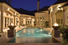 A covered patio allows you to lay out by the pool, but without getting too much sun. It offers a comfortable outdoor living space, especially for pools situated further from the home. Photo courtesy of Baker Pools; photography by Archway Photography http://www.luxurypools.com/