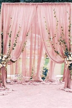 Best Ideas for wedding outdoor ceremony backdrop fabrics Wedding Ceremony Backdrop, Outdoor Ceremony, Wedding Reception, Wedding Halls, Wedding Backdrops, Ceremony Arch, Wedding Programs, Wedding Table Centerpieces, Wedding Decorations