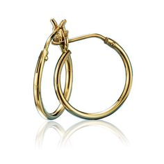 "Genuine 10K Gold 1/2"" pierced Hoop Earrings featuring a post and catch clutch. Imported. www.youravon.com/kward3715"