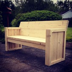 Garden Furniture Made From Scaffolding Planks rustic hand made wooden pine garden bench furniture reclaimed